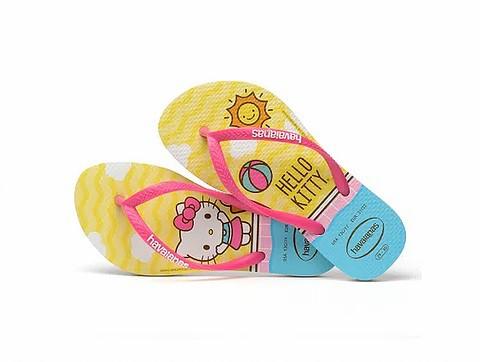Havaianas Chinelo Infantil Kids Slim Hello Kitty Branco