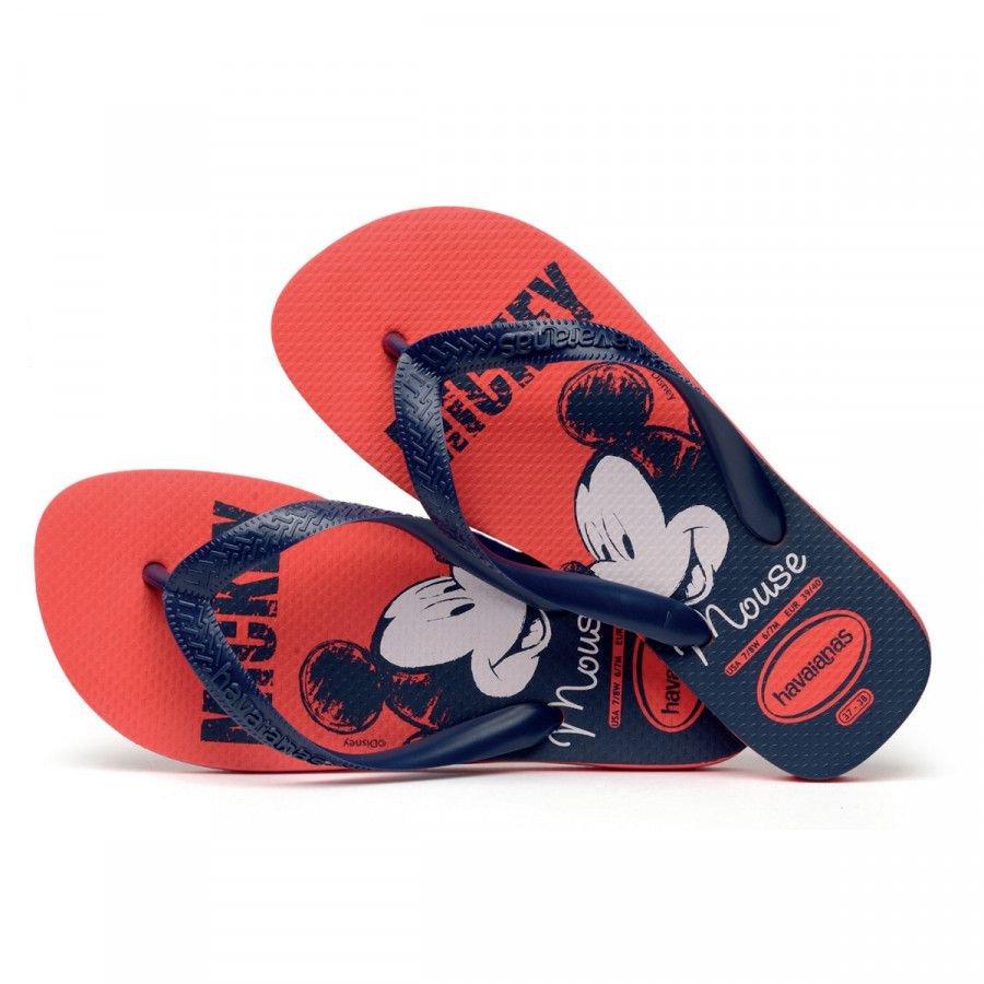Havaianas Chinelo Infantil Top Disney Vermelho/Marinho