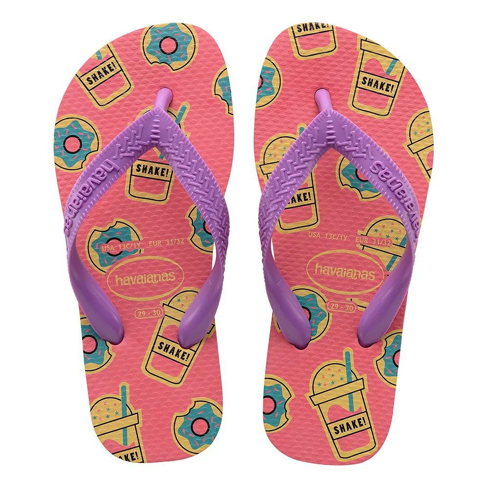 Chinelo Havaianas Infantil Kids Top Fashion Rosa Porcelana