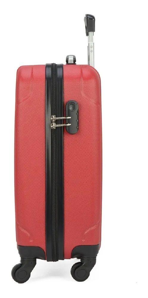 Mala de Viagem de Bordo ABS 360º Expansiva Polo King Roterdã Vermelho