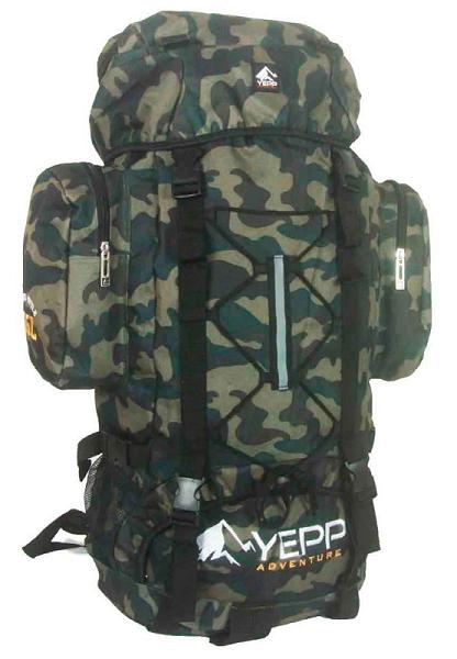 Mochila de Camping 55 Litros Verde Camuflada Yepp MC3008