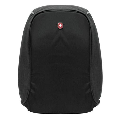 Mochila Executiva Notebook Antifurto Impermeável Preta com entrada USB - SWISSLAND YS28056
