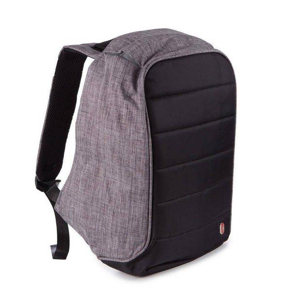 Mochila Swissland Antifurto impermeavel com compartimento para Notebook YS28055 Cinza com Preto