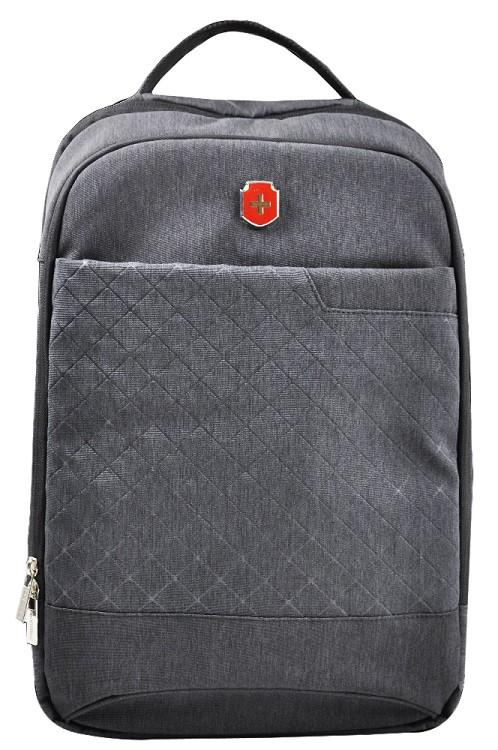 Mochila Swissland Executiva com Compartimento para Notebook e Tablet em Poliester Preta YS28081