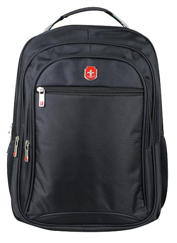 Mochila Swissland Executiva com Compartimento para Notebook em Poliester Preta SL04003