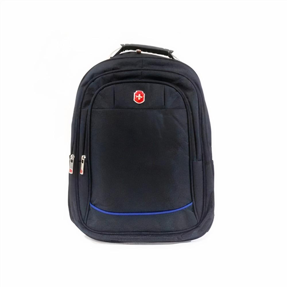 Mochila Swissland Executiva com Compartimento para Notebook em Poliester Preto e Azul SL04001
