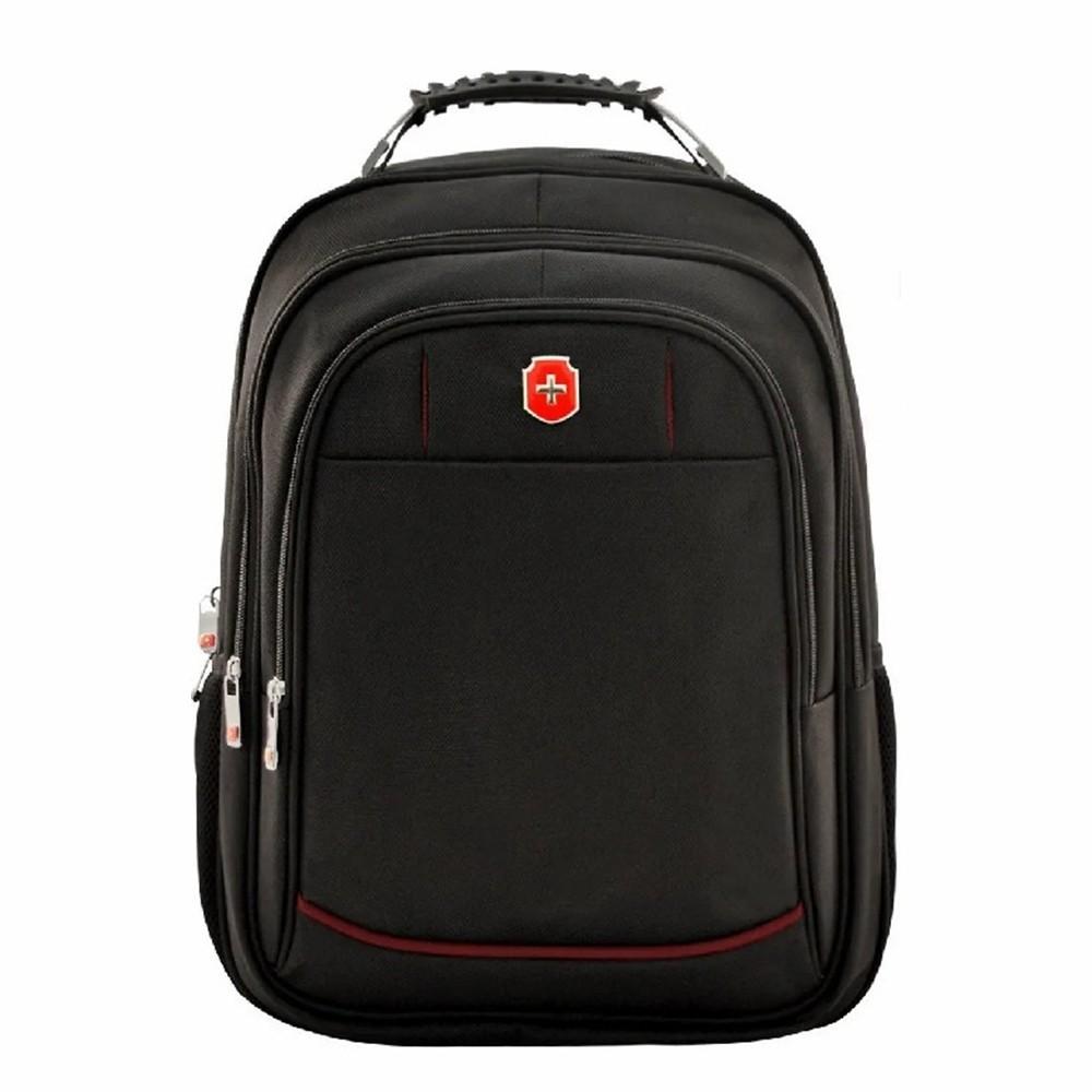 Mochila Swissland Executiva com Compartimento para Notebook em Poliester Preto e Vermelho SL04001