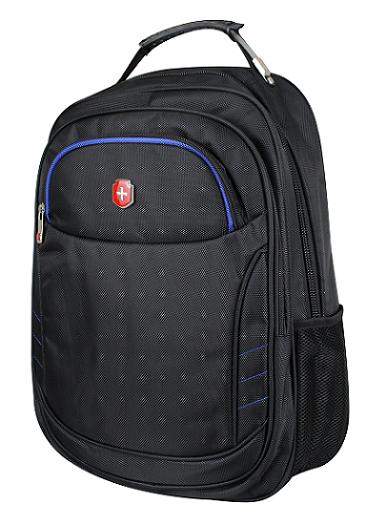 Mochila Swissland Executiva com Compartimento para Notebook em Poliester SL04004 Preto com Azul