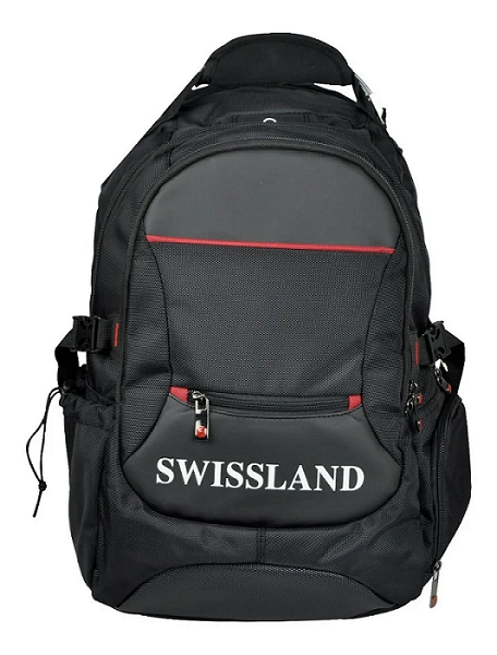 Mochila Swissland Executiva com Compartimento para Notebook em Poliester Preta YS28003