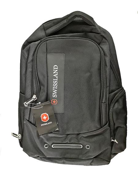 Mochila Swissland Executiva com Compartimento para Notebook em Poliester Preta YS28066