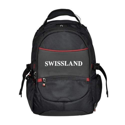 Mochila Swissland Executiva com Compartimento para Notebook em Poliester Preto e Vermelho YS28002