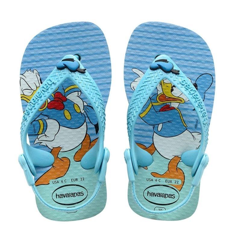 Sandália Bebê Havaianas Baby Disney Pato Donald Azul