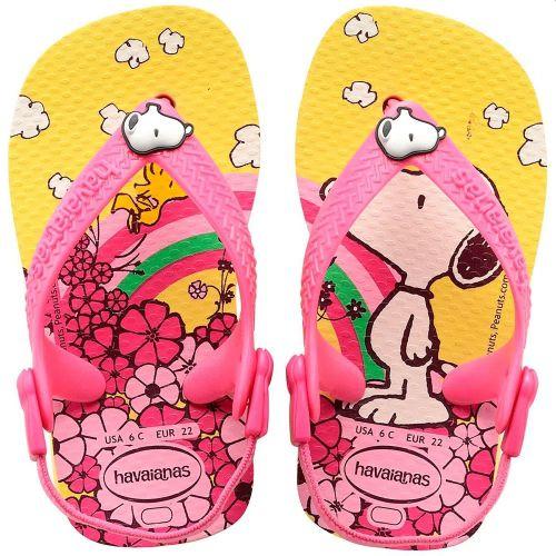 Sandália Bebê Havaianas Infantil Baby Snoopy Woodstock Amarelo Light
