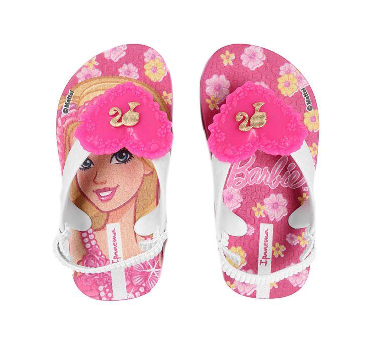 Sandália Bebê Ipanema Baby Barbie Rosa/Branco