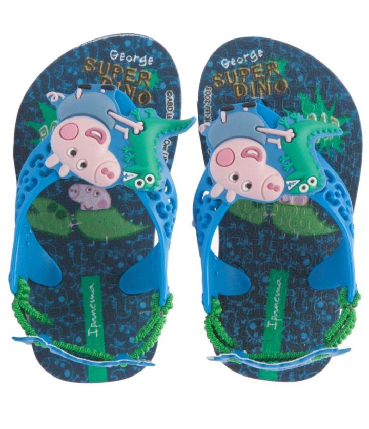 Sandália Bebê Ipanema Peppa Pig George Baby Azul/Azul