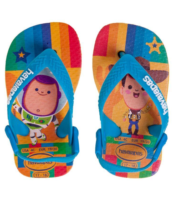 Sandália Bebê Havaianas Baby Pixar Toy Story Woody e Buzz Lightyear