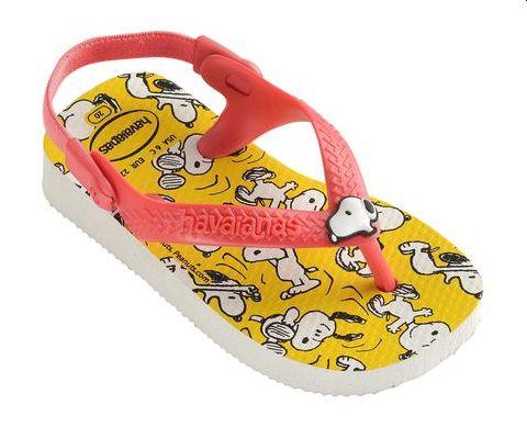 Chinelo Havaianas Baby Snoopy e Woodstock