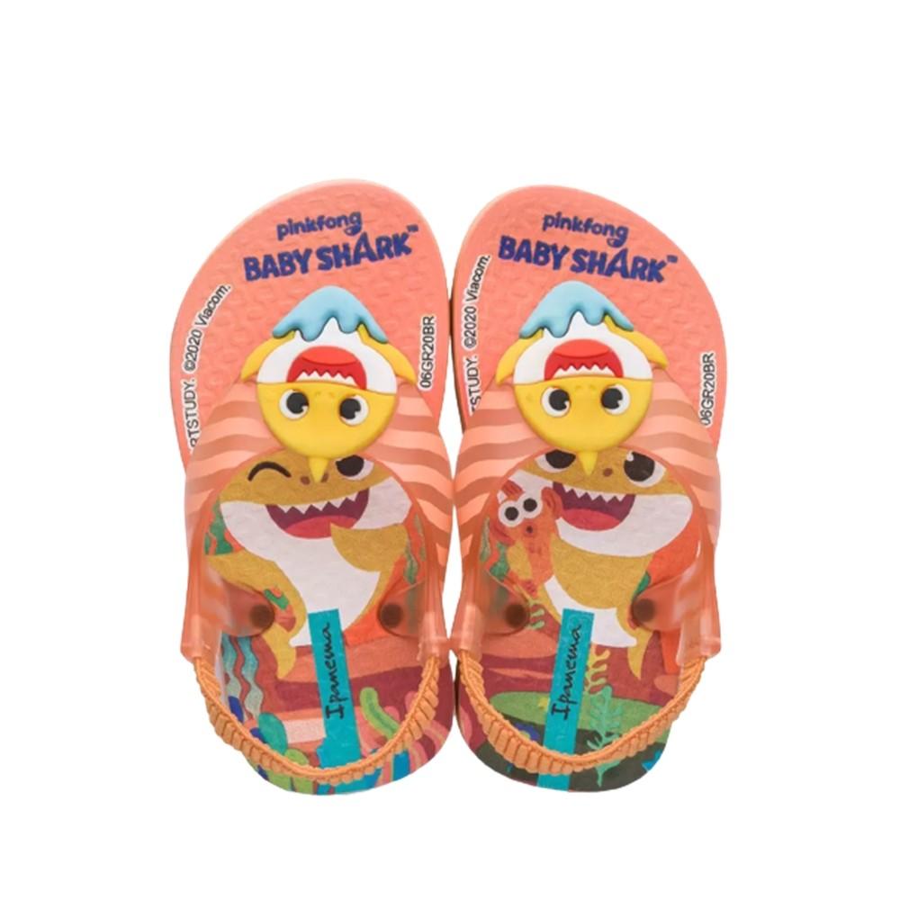 Sandália Infantil Ipanema Baby Shark Laranja/Laranja/Amarelo