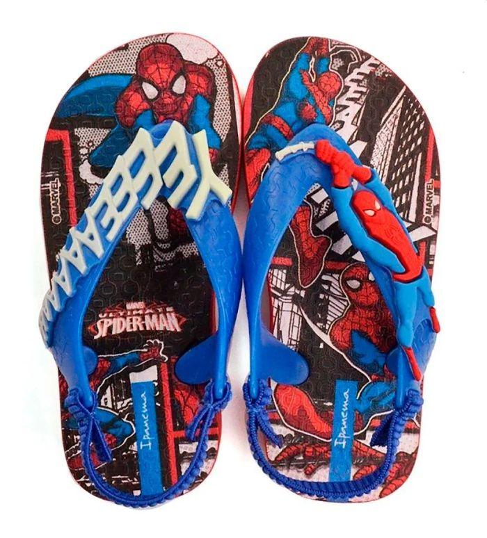 Sandália Infantil Ipanema Marvel Homem Aranha Power Cores