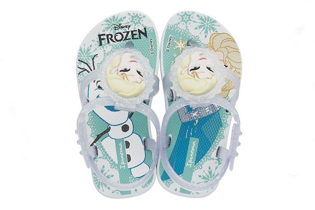 Sandalia Ipanema Baby Frozen Forever Branco Vidro Azul