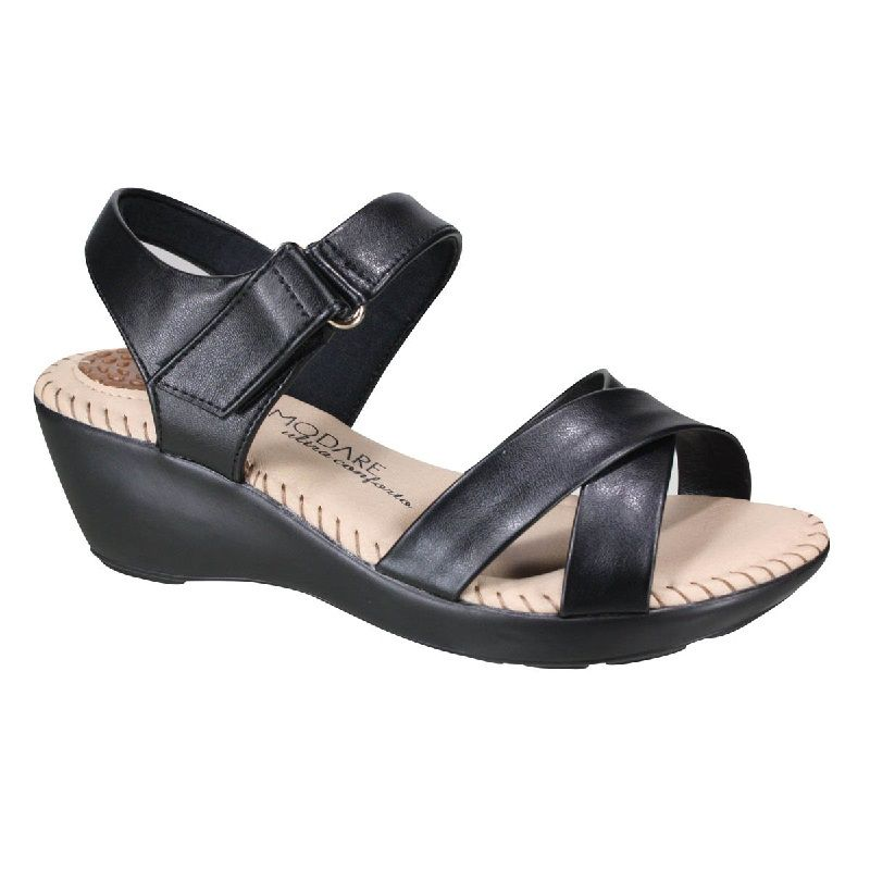 Sandália Modare Feminina Ultraconforto Napa Sense Flex Preto - 7023337