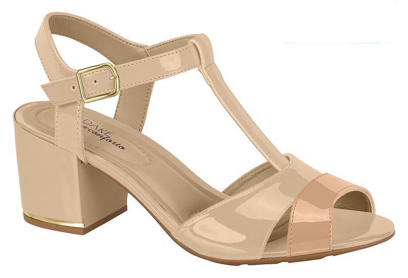Sandália Modare Verniz Premium 7109208 Bege com Nude