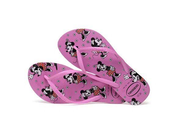 Chinelo Havaianas Feminina Slim Disney Minnie Mouse Ice Pink