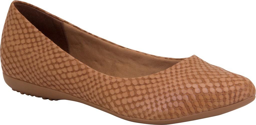 Sapatilha Bottero Feminino Couro Snake Plus 309801 Caramelo