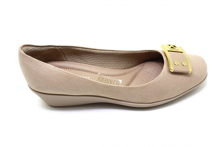 Sapato Anabela Piccadilly Microfibra Napa 144016 Nude