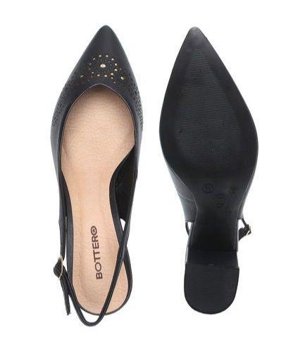 Sapato Chanel Bottero Couro Atanado Napoli Lasercut Preto - 300707
