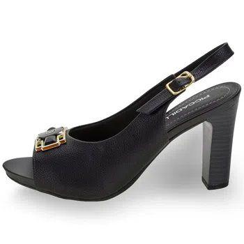 Sapato Feminino Chanel Piccadilly - 614025 Preto Salto Pintado