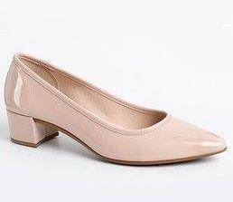 Sapato Feminino Moleca Verniz Fresh Neo Rosa Salto Baixo Forrado 5662100