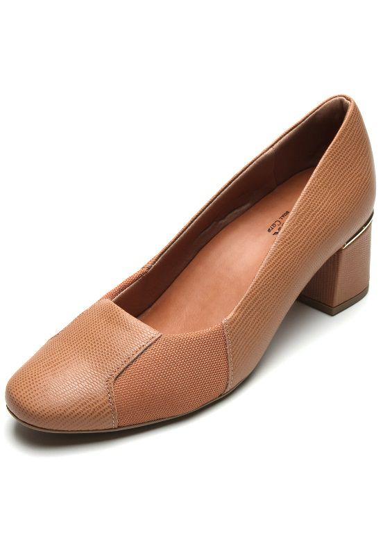 Sapato Feminino Usaflex Dual Care Z2611 - Camel