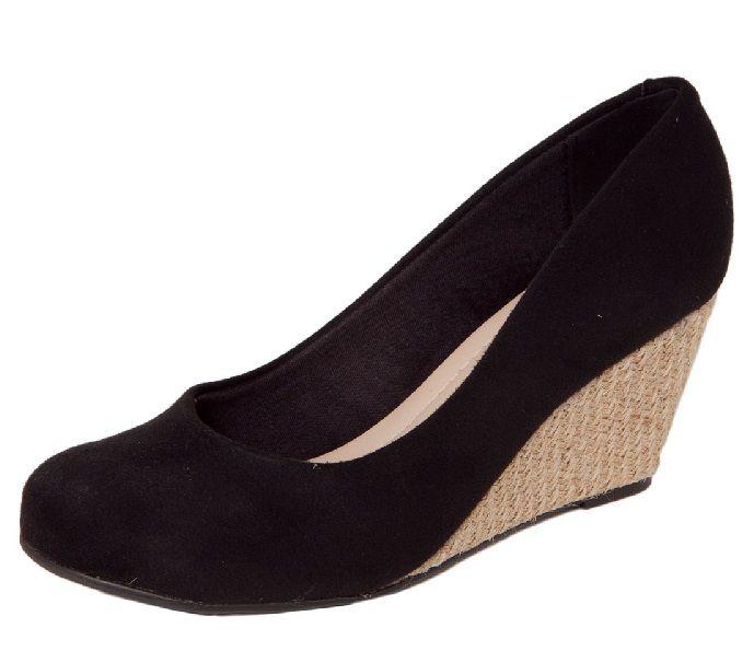 Sapato Moleca Salto Anabela Nobuck Country Preto - 5270500