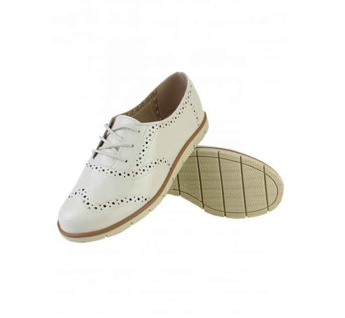 Sapato Oxford Moleca Verniz Premium 5613318 Branco