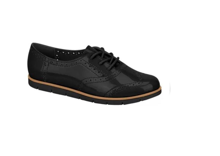 Sapato Oxford Moleca Verniz Premium 5613318 Preto