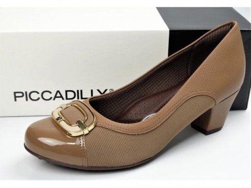 Sapato Piccadilly com Protetor para Joanete 111081 - Fendi Elastano Verniz Salto Forrado