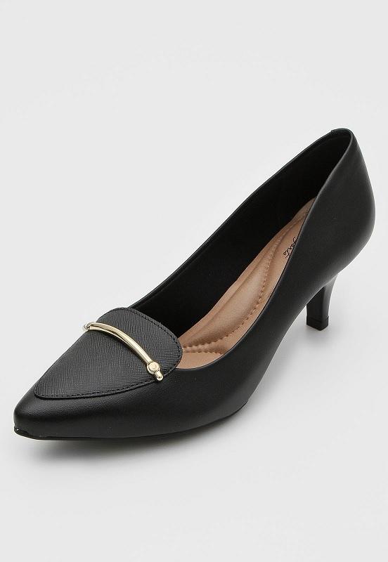 Sapato Scarpin Feminino Salto Fino Beira Rio Preto - 40761006