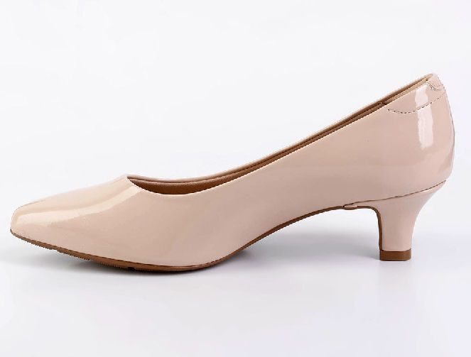 Sapato Scarpin Modare Salto Baixo Verniz Premium Bege - 7314100