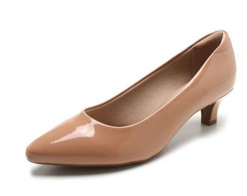 Sapato Scarpin Modare Salto Baixo Verniz Premium Nude - 7314100