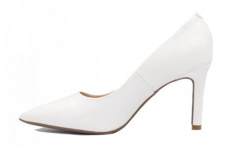 Sapato Scarpin Vizzano Salto Alto Fino Forrado e Bico Fino Pelica Branco - 1306100