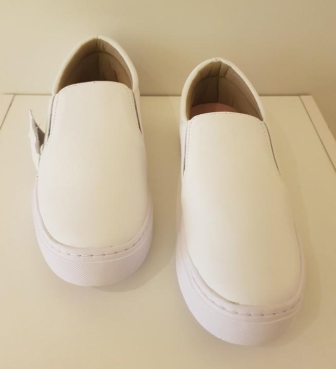 Tenis Casual Camila Reis Couro Solado Antiderrapante Branco - 1200