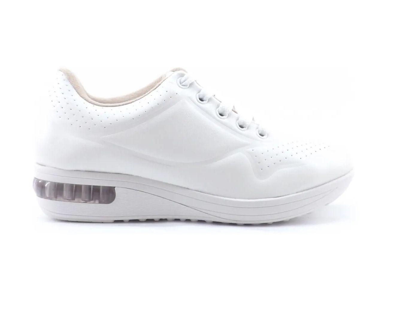 Tenis Feminino Modare Ultra Conforto com Amortecedor Branco Napa Cristalina 7320112