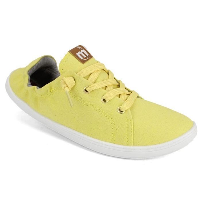 Tênis Feminino Moleca Tecido Lona Ecológico 5660205 Amarelo