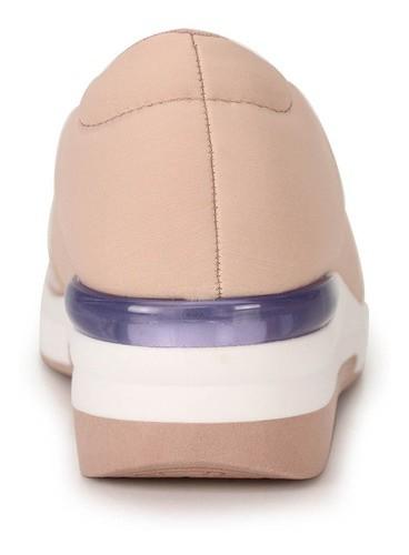 Tênis Modare Feminino Casual Conforto Slip On Lycra Rosa 7336106
