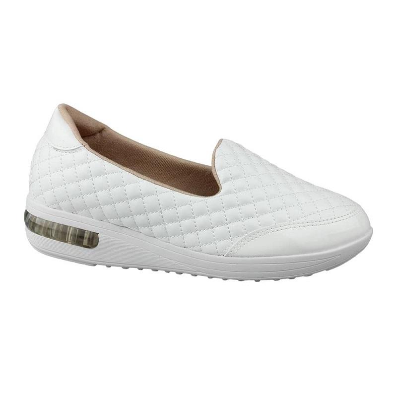 Tenis Modare Ultra Conforto Slip On Matelassê Branco 7320207
