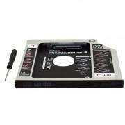 Adaptador Caddy Drive Dvd 9.5mm para HD Sata e SSD 2,5´´ Notebook Case Gaveta Exbom HDCA-S095