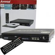 Aparelho Dvd Player Rca 2.0 Canais Usb Mp3 Cd Ripping Amvox Preto AMD 290 Bivolt