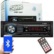 Auto Rádio Som Mp3 Player Automotivo Carro Bluetooth H-Tech HMP-60BT Fm Usb Sd Auxiliar Controle