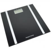 Balança Bioimpedância Corporal Digital Banheiro 180 Kg 10 Usuários Quadrada Importway IWBDBIO-001